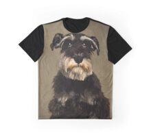 Schnauzer Dog Portrait Graphic T-Shirt