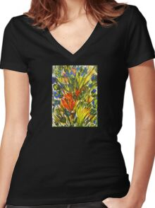 """Renewal"" Women's Fitted V-Neck T-Shirt"