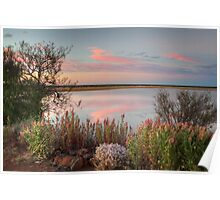 Sunset  At Malcolm Dam Poster