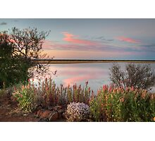 Sunset  At Malcolm Dam Photographic Print