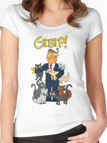 DonaldTrump / Simpsons Mashup . Grab Them By The Pussy Women's Fitted Scoop T-Shirt