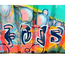 Graffiti design 2 - by Ana Canas Photographic Print