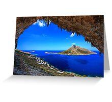Grande Grotta, climbing paradise - Kalymnos island Greeting Card