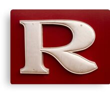 The Letter 'R'  Canvas Print
