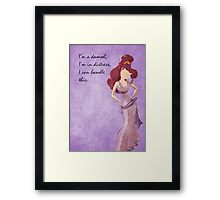Hercules inspired design (Meg) Framed Print