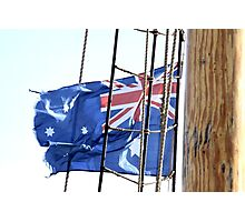 Flag on a Rope Photographic Print