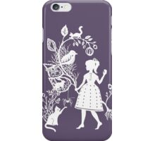 Young Girl With Branch & Animals iPhone Case/Skin