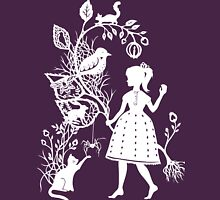 Young Girl With Branch & Animals T-Shirt
