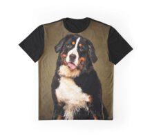 Bernese Mountain Dog Portrait Graphic T-Shirt