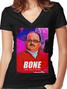 ken bone Women's Fitted V-Neck T-Shirt