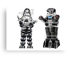 RETRO Robots Attack! Canvas Print