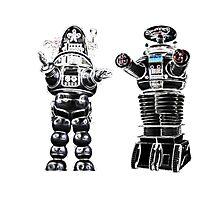 RETRO Robots Attack! Photographic Print