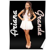 Ariana Grande White Dress Poster
