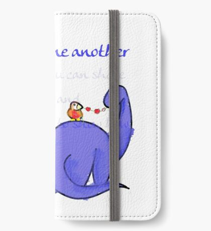 Be kind to one another, dinosaur friend iPhone Wallet/Case/Skin