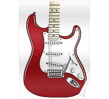 Fender Stratocaster RED Poster