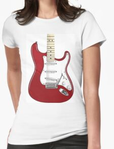 Fender Stratocaster RED Womens Fitted T-Shirt