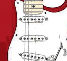 Fender Stratocaster RED Sticker