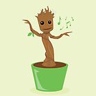 Dancing Groot by awiec