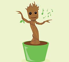 Dancing Groot by awiec