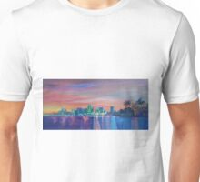 Miami Skyline Silhouette at Sunset, Florida, USA  Unisex T-Shirt