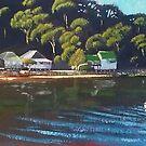 Brisk Bay Mooring, Patonga NSW by Michael Jones