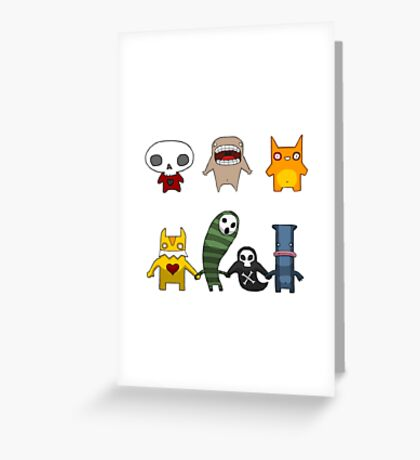 Monster Menagerie Greeting Card