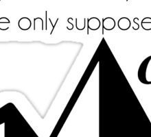 Carrying Mountains Sticker