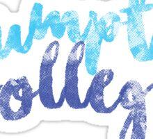 Assumption College - Cursive Sticker