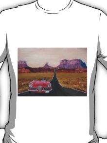Road trip Alfa Romeo Oldtimer in Monument Valley, Utah USA T-Shirt