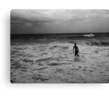 One Against The Waves Canvas Print