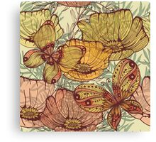 Butterflies retro Canvas Print