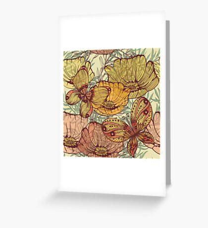 Butterflies retro Greeting Card