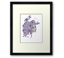 Strange Lady - Purple Framed Print