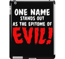 That name is DRACULA! iPad Case/Skin
