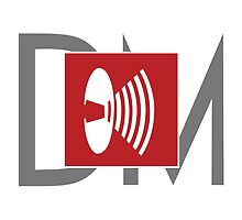 Depeche Mode - Music For The Masses Logo 4 Grey DM by Luc Lambert