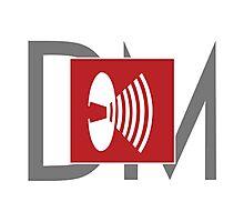 Depeche Mode - Music For The Masses Logo 4 Grey DM Photographic Print