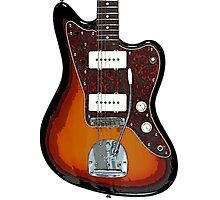 Fender Jaguar two tone tobacco Photographic Print