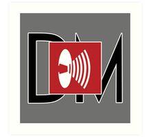 Depeche Mode - Music For The Masses Logo 4 Black DM Art Print