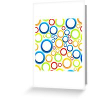 Organic pattern with bubbles Greeting Card
