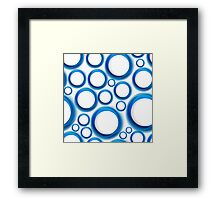 Blue circles Framed Print