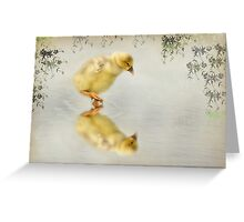 Reflection of a Gosling Greeting Card