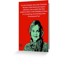 Annie Laurie Gaylor Christmas Greeting Card