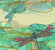 Dragonfly pattern by Patternalized