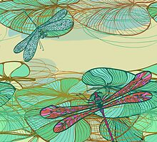 Dragonfly pattern by Patternalized