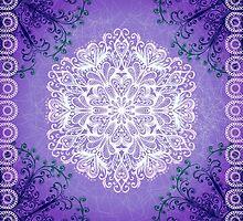 Violet snowflake by Patternalized