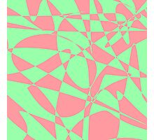 Pink and Green Abstract Print Photographic Print