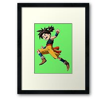 blue dragon ready to fight Framed Print