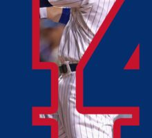 Anthony Rizzo Chicago Cubs Number 44 Sticker