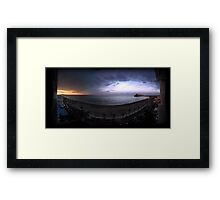Two-colored sunset Framed Print