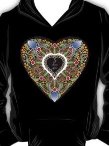 I love you (black heart) T-Shirt
